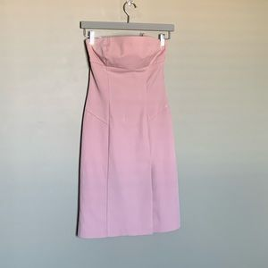 Le chateau pink strapless Y2K minidress sz small
